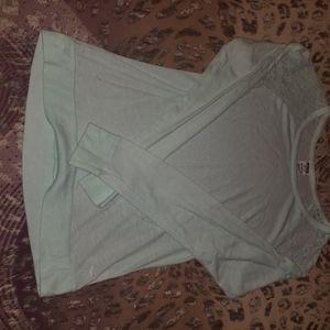Victoria secret pink lace long sleeve top! Size xs